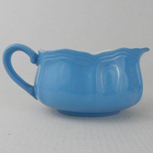 Linda Ironstone Gravy Boat Blue Scalloped Japan